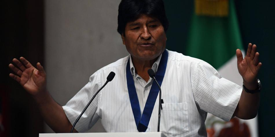 Evo amenaza con regresar a Bolivia, 'si el pueblo lo pide'