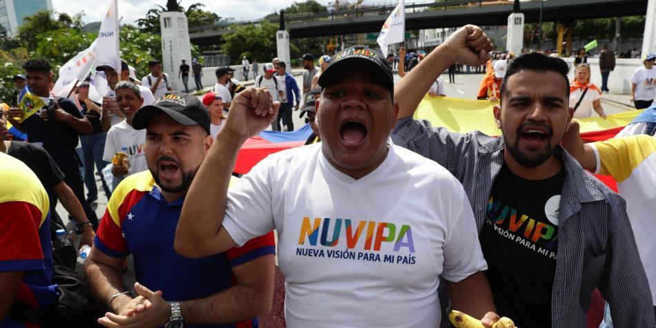 Comienza protesta permanente en Venezuela con marcha de este 16N