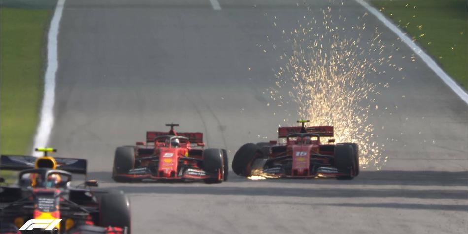 ¡Insólito! Vettel tocó y sacó a su compañero del GP de Brasil