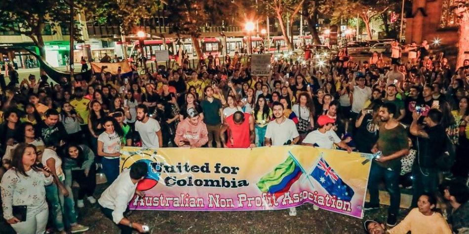Los colombianos que se unieron al paro nacional en el exterior