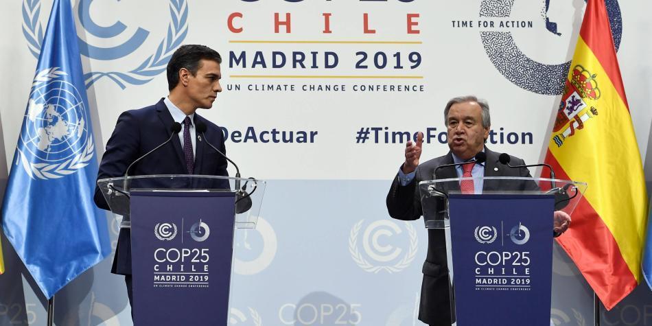 Cumbre climática COP25 de Madrid, por una acción política urgente