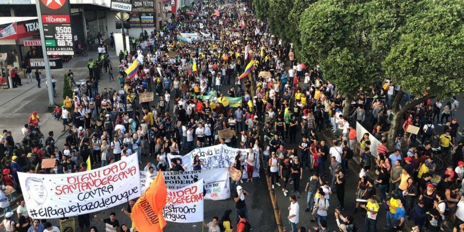 En vivo: Se presentan algunos bloqueos en vías de Bucaramanga