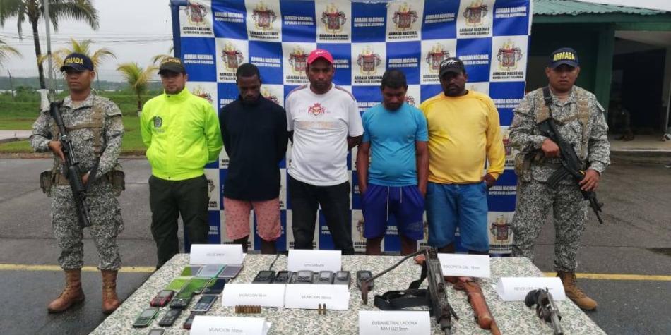 Armada captura a cuatro 'piratas' extranjeros en aguas del Pacífico
