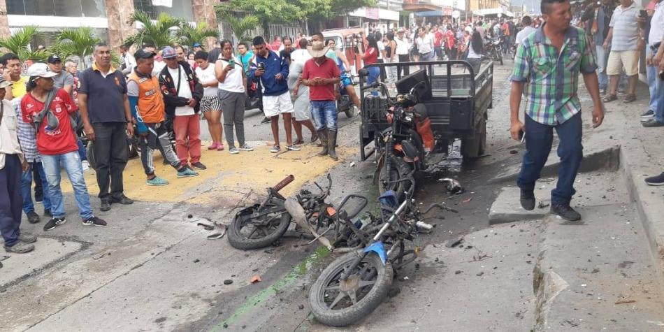 Explosión de 'motobomba' en Miranda, Cauca, dejó un herido