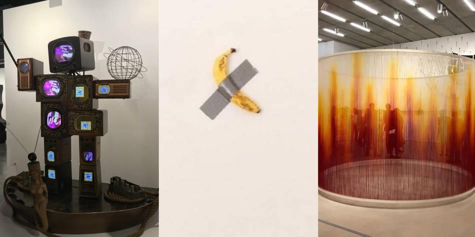 El banano de Cattelan, flores y otras maravillas de Art Basel