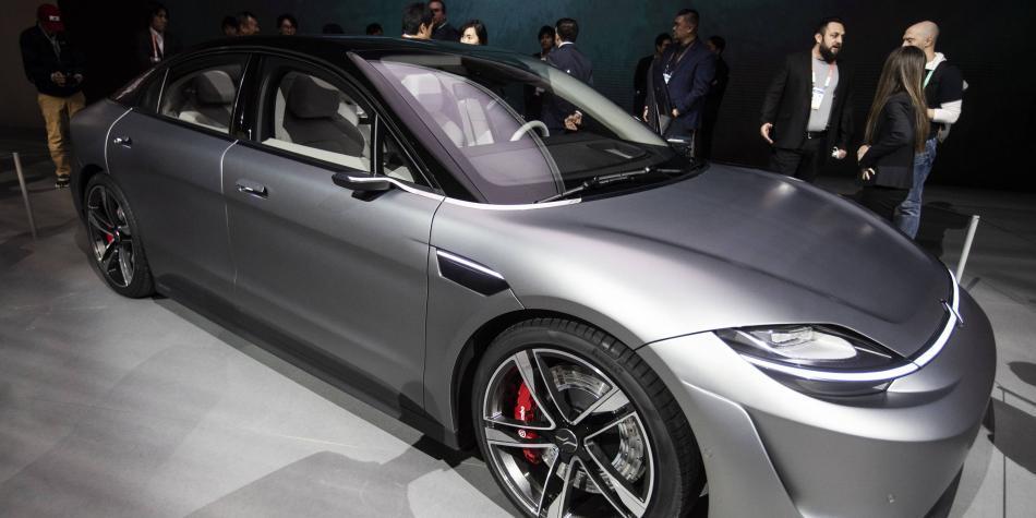 Sony reveló su primer carro eléctrico en el CES 2020