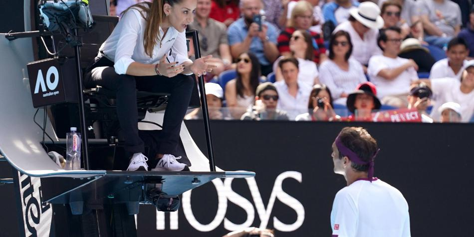¿Qué dijo Federer para que recibiera aviso por 'obscenidad audible'?