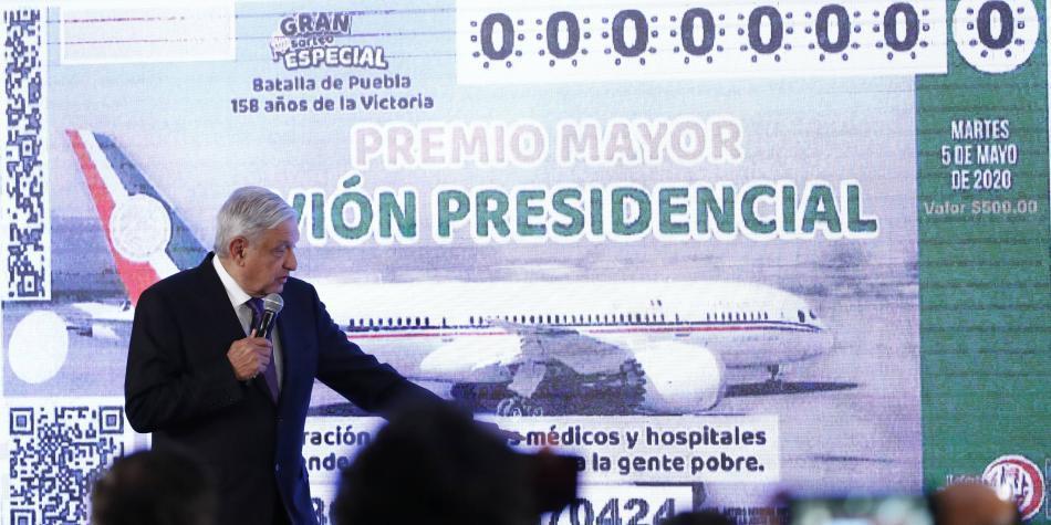 AMLO ya tiene las boletas para la rifa del avión presidencial