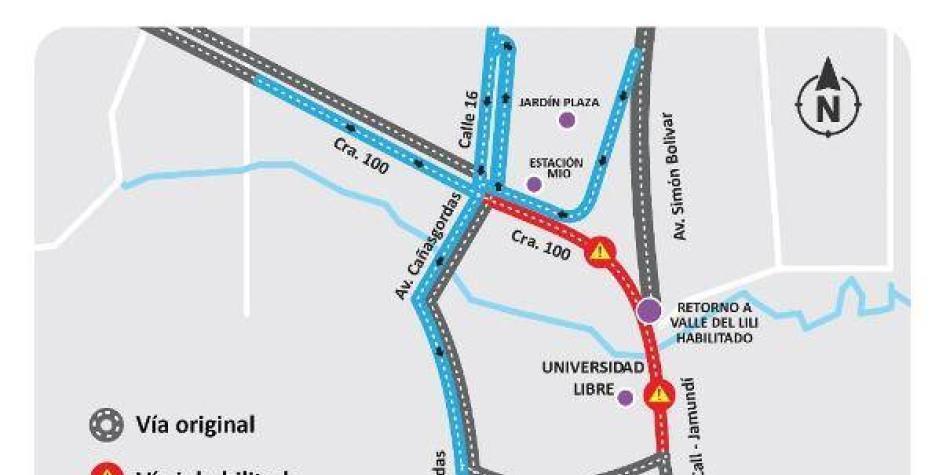 Desde las 10:00 p.m. y durante 7 horas estará cerrada vía a Jamundí
