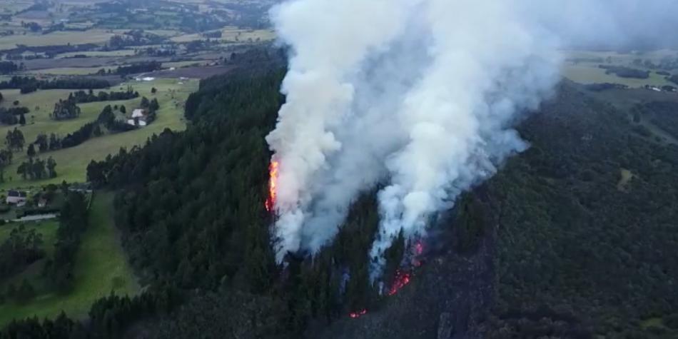 75 municipios están en alerta roja por incendios forestales: Ideam