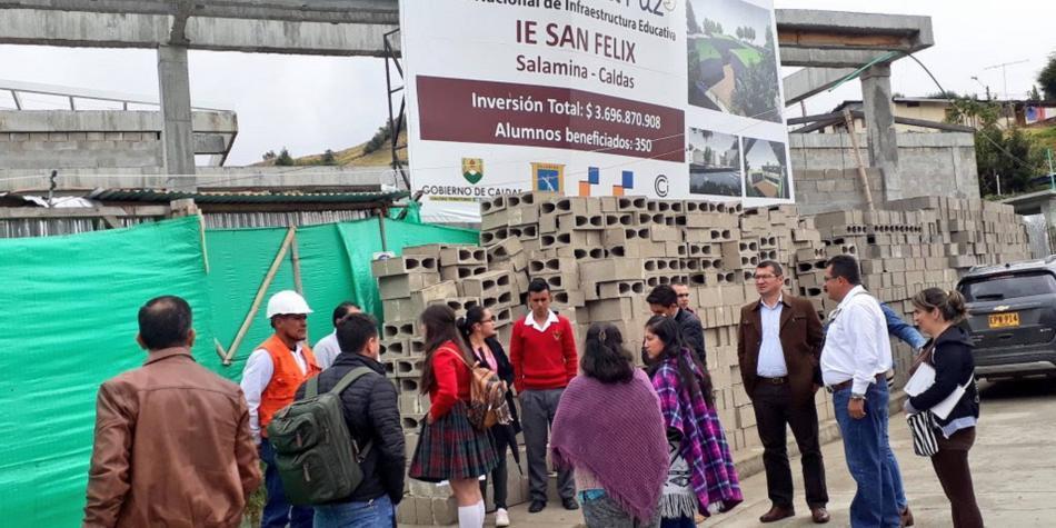 Se reactivaron obras de infraestructura educativa en Caldas