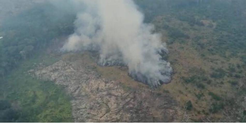 El impactante incendio que ha consumido 3.400 hectáreas en La Macarena
