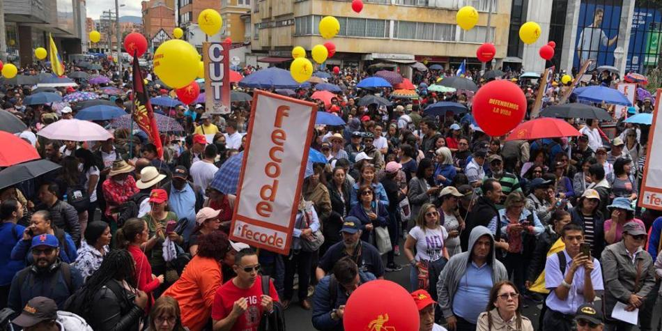 En vivo: Avanzan marchas de docentes en varias ciudades del país