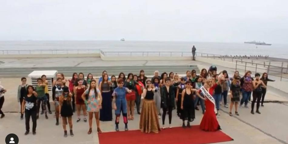 Así fue el performance feminista contra el festival de Viña del mar