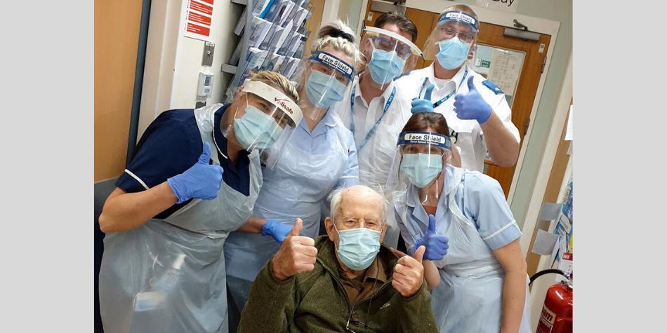 ¡Noticias esperanzadoras! Abuelo de 101 años venció al coronavirus