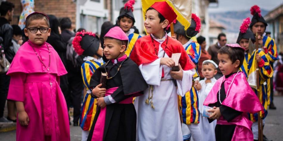 Semana Santa en Tunja procesion niños
