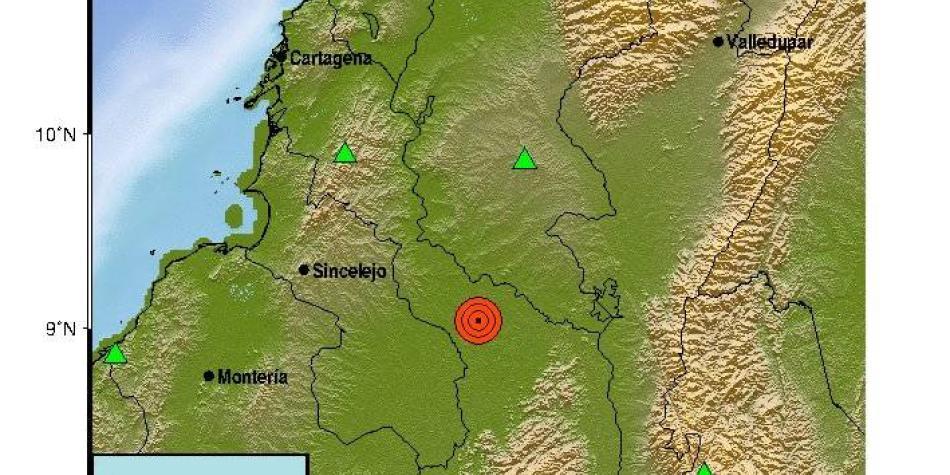 temblor en Bolivar