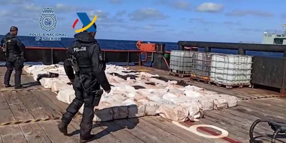 En las costas de Galicia, en España, cayeron 4 toneladas de coca