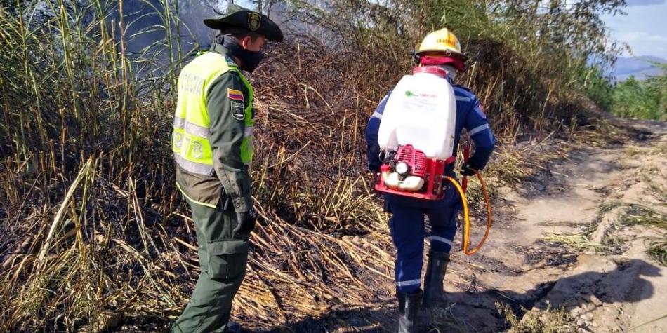 Ola de calor desata incendios forestales en Cúcuta