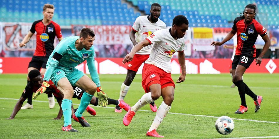 Leipzig perdió opción de superar al Borussia Dortmund en la Bundesliga