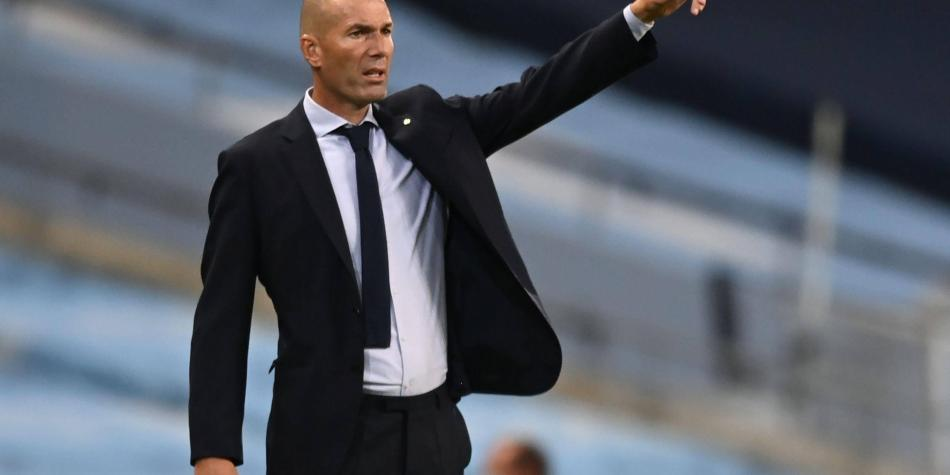 Zidane, con los 'taches arriba', tras la eliminación en Champions