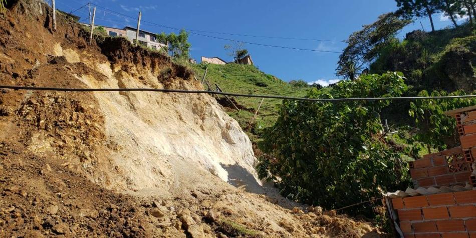 Zona donde ocurrió deslizamiento en Bello podría seguirse moviendo