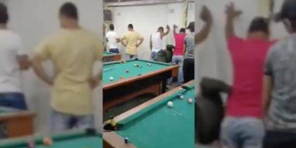 Capturan a 14 personas dentro de un billar clandestino en Barranquilla