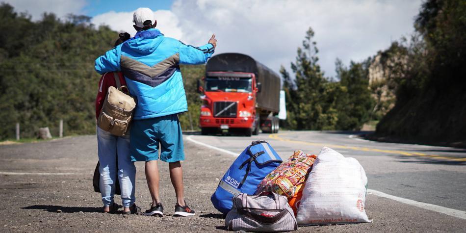 Venezolanos en migración
