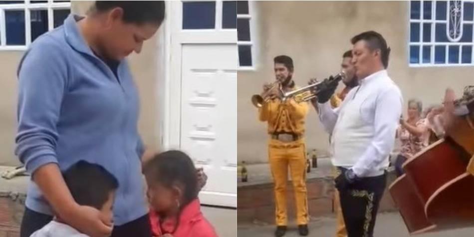 Con canicas y $1.000, niño pagó serenata para sorprender a su mamá