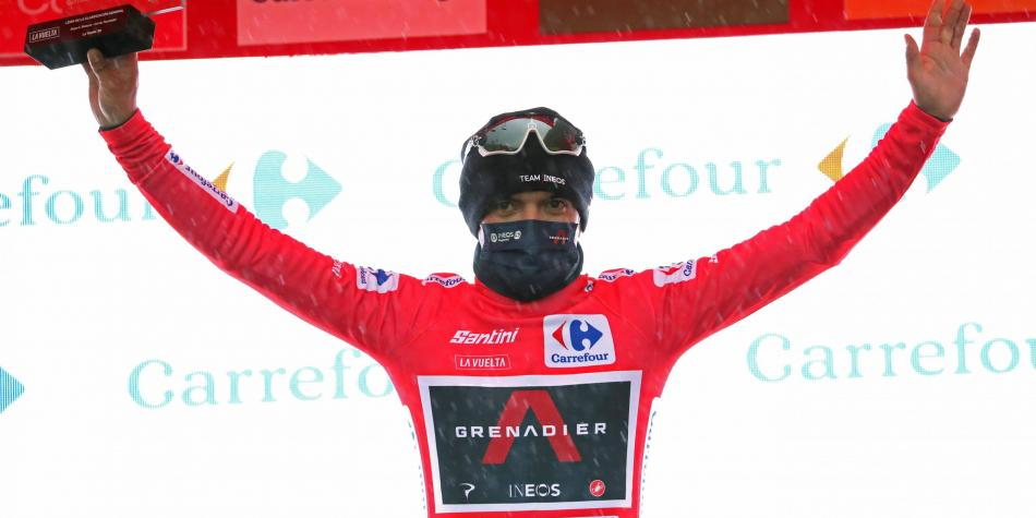 Carapaz, líder de la Vuelta a España; etapa para Izaguirre