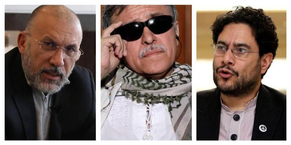 Roy Barreras, Jesús Santrich, Iván Cepeda.