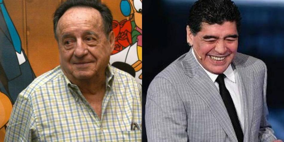 Nostálgico video de Maradona junto a 'Chespirito' que se volvió viral