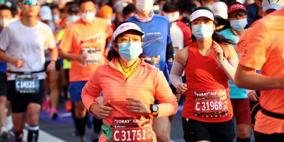 9.000 Corredores desafiaron al coronavirus en el maratón de Shanghái