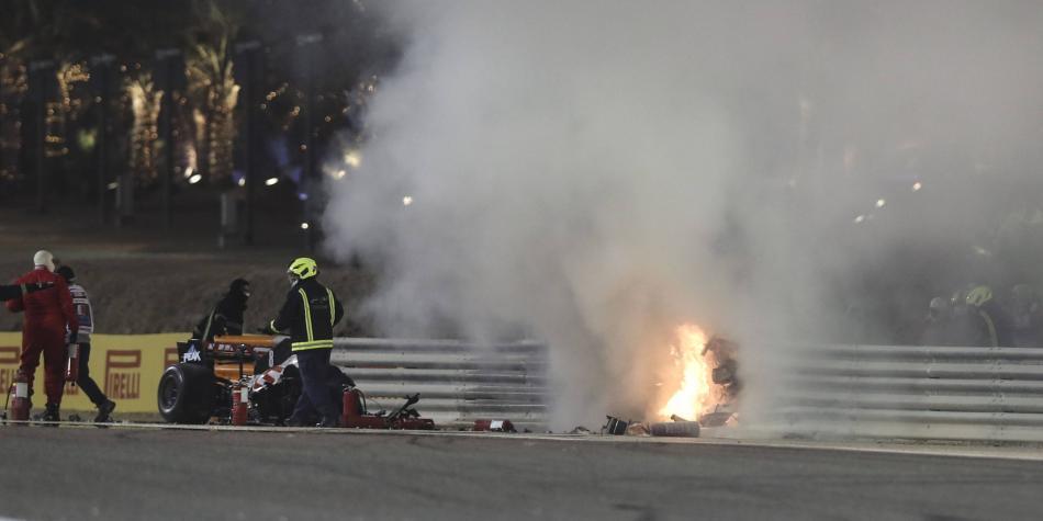 El parte médico de Grosjean, tras su fuertísimo accidente en Baréin