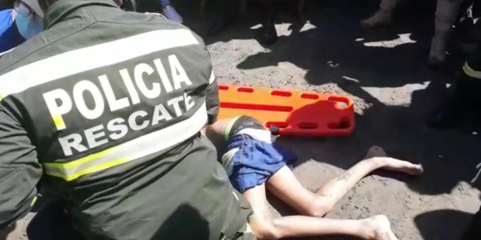 El impactante rescate a menor inmerso en playas de Puerto Colombia