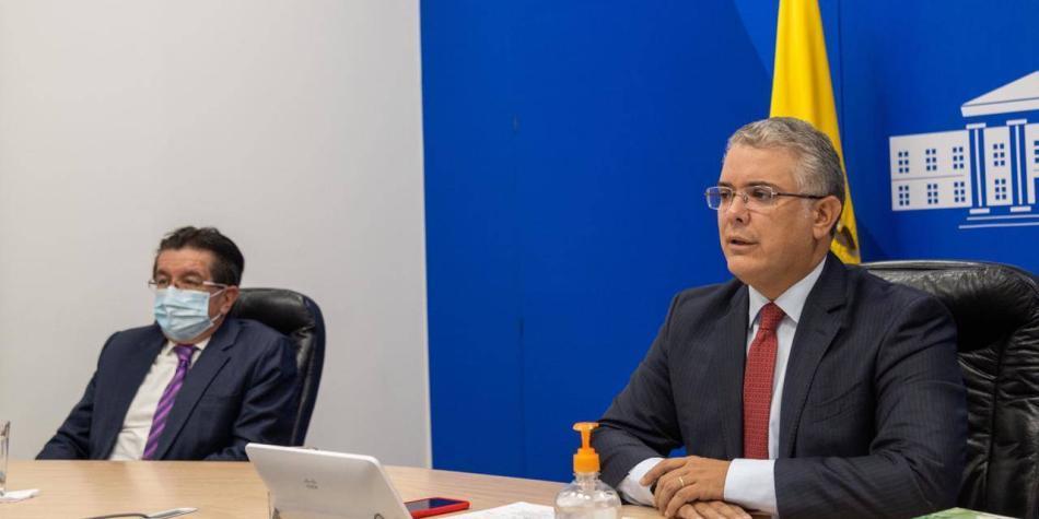 Duque se reúne con Corte por posible avalancha de tutelas para vacunas