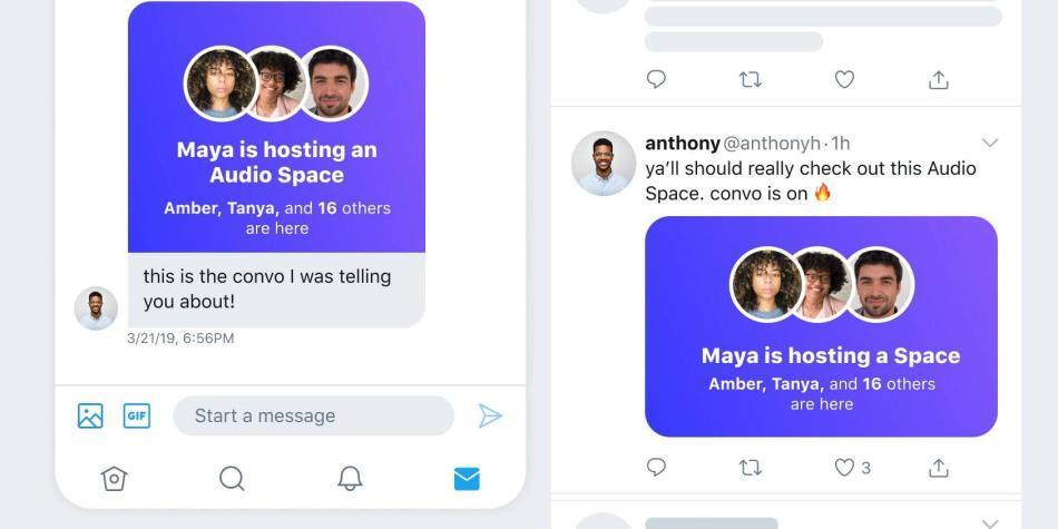 Twitter lanza nuevas salas con chat de voz