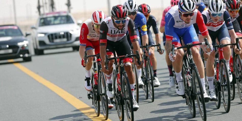 Fernando Gaviria sufrió una nueva derrota en el UAE Tour