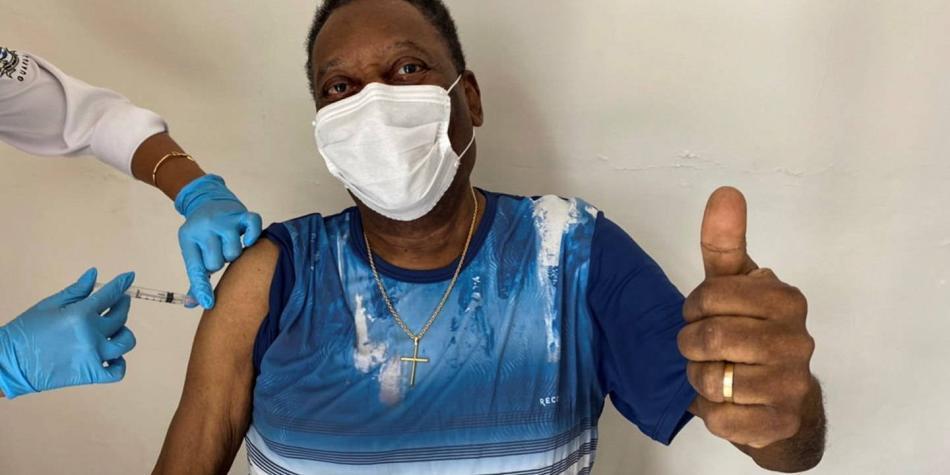 Pelé ya se puso la vacuna contra el covid-19