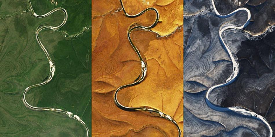 Las llamativas y extrañas imágenes que la Nasa captó en Siberia