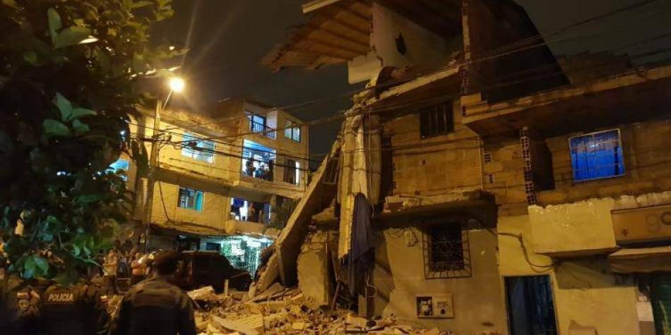 Nueve heridos en fuerte explosión en comuna 7 de Medellín