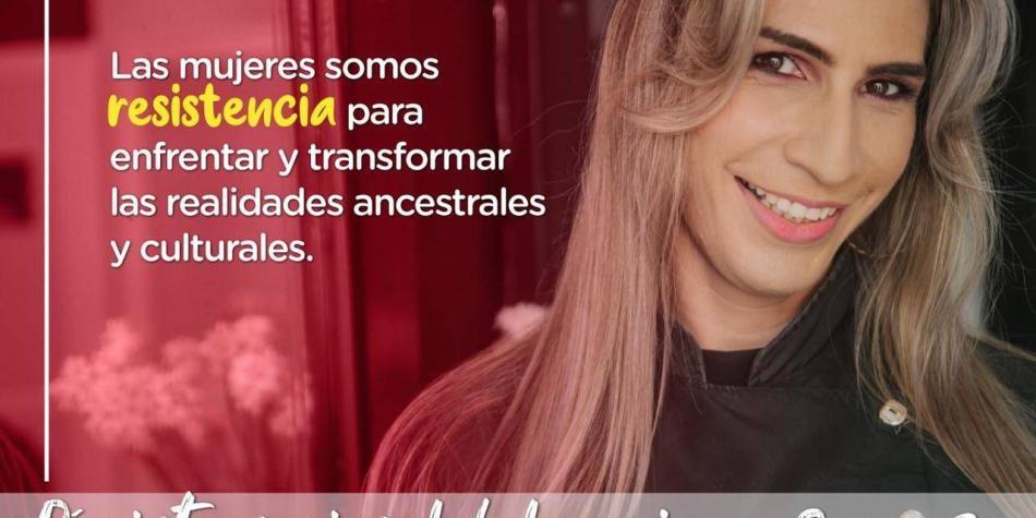 Discriminan a mujer trans que apareció en imagen de día de la mujer