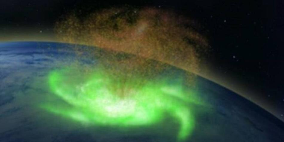 Por primera vez en la historia se observó un 'huracán espacial'