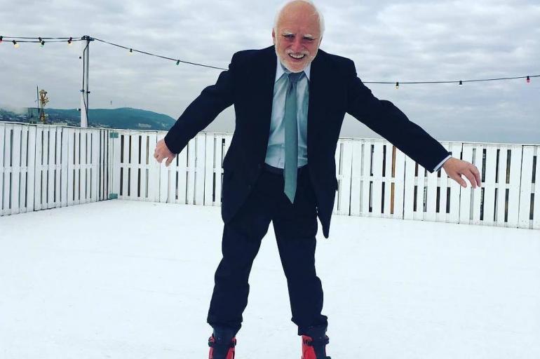 Así es en la vida real 'Pain Harold', el abuelo del meme viral