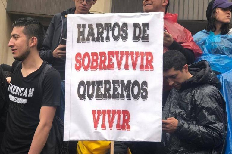 Las frases de las pancartas que deja el Paro #21N - Bogotá - ELTIEMPO.COM