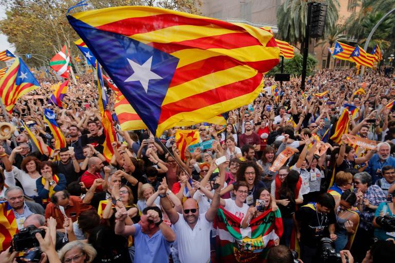 Celebran declaración de independencia Cataluña