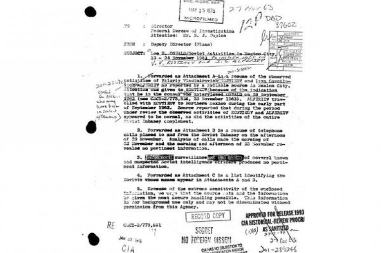 Los Secretos En Los Documentos Sobre Jhon F Kennedy Que Entregó La Cia Eeuu Internacional Eltiempo Com