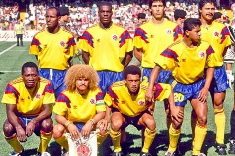 Así ha evolucionado la camiseta de la Selección Colombia - Fútbol ... c5183fe16df