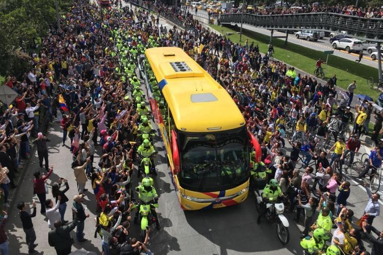Recibimiento de la Selección Colombia