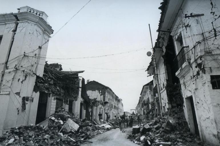 Imagen del terremoto de Popayán